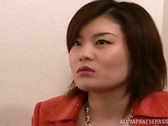Miki Nakae, horny slut gives hot blowjob pending rough sex