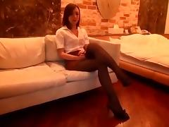 Japanese black pantyhose sex