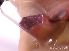 Alluring babe Hartley in the sensual masturbation of her snatch