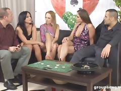 Board game leads to a sex party with pornstar sluts