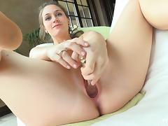 Perfect pussy of a gorgeous girl fucking a dildo