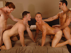 James Jamesson & Samuel O'Toole & Paul Wagner & Tyler Ford in You The Pitcher Or Catcher XXX Video