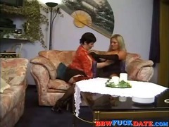 Vintage 3way with two fat woman and one lucky guy