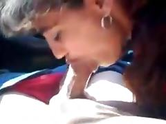 Romanian Prostitute Gives Hard Blowjob In The Car