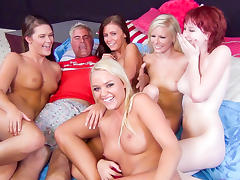 Elaina Raye, Abby Cross, Alexis Monroe, Whitney Westgate, Zoey Nixon in Five Floozy Females Fuck For Fun Video