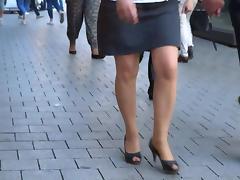 Sexy Legs! mature walking high heels open toe