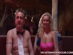Velvet Swingers Club party with real gangbang amateurs