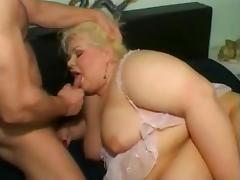 Sexy Blonde BBW Takes A Pounding