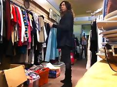 tranny clothes shopping stripping public