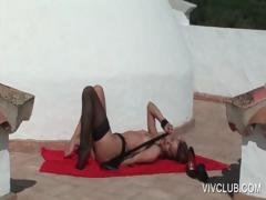 Godess in lingerie plays with cunt porn video