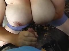 Amateur Big Tit Cumschot