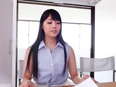 Horny Asian girl gangbanged by black and white guys