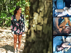Renee Roulette Gladly Endures Rough Sex & Outdoor Rope Bondage for a Ride - HelplessTeens