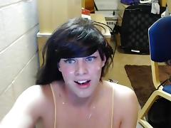 Amateur Tgirl Self Facial Compilation