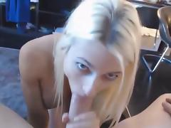 The Perfect Blonde - POV Blowjob