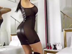 Dress, Babe, Big Tits, Black, Brunette, Dress