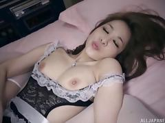 Very helpful Asian nurse lets her boss bang her tight pussy