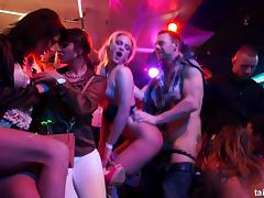 Crazy nightclub session with lots of the pussy drilling