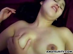 Amateur girlfriend with big tits homemade creampie