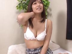 Sweet sweater girl ends up with a dick in her Asian pussy