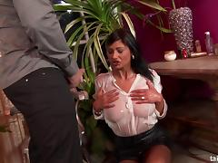 Doggy style session at the table is just what sexy Tera needed