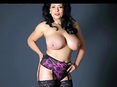 British, Big Tits, British, Masturbation, Stockings