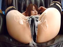 Creative Japanese slut in bondage still affords to suck a cock like a pro