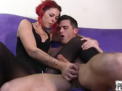 Ariel Kay Roommate Control with Lance Hart PANTYHOSE EDGING