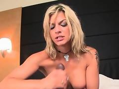 Bbc loving glam whore cum