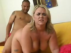 Hairy BBW, BBW, Big Tits, Blonde, Blowjob, Boobs