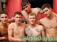 Bric, Dustin, Nick, Rusty & Zander Military Porn Video