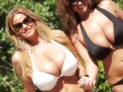 Busty babes ride the dick with utter passion and professionalism