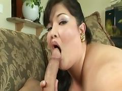 Hot Asian Bbw fucks white man