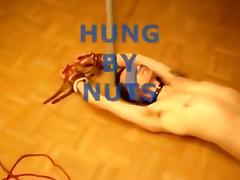 hung by nuts