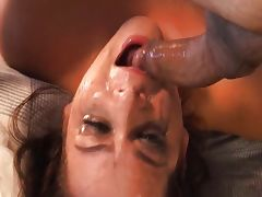 Hot girl shows the gag factor