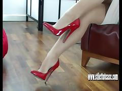 Heels, Brunette, Cum, Dirty Talk, Heels, Naughty