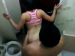 Amazing concealed movie of an oriental couple having sex wi