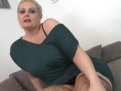 Curvy, Blonde, Curvy, Fucking, Mature, Stockings