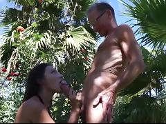 Old Man, Blowjob, Fucking, Hardcore, Old Man, Outdoor