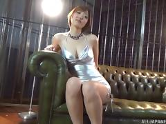 POV penis pump play with a Japanese beauty growing your dick