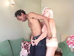 Chubby older blonde is crazy with lust for BBC