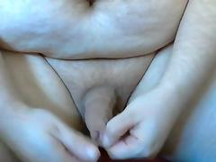 Foreskin play bit ball stretching jerking off with moans