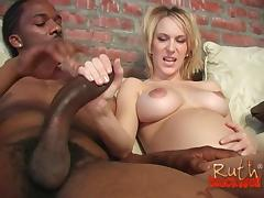 Pregnant senorita decides to take the black cock deep into pussy