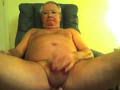 Grandpa show and cum