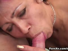 Mili in Colorful Grandma Gets Banged In Her Shaved Big Pussy - PornXn