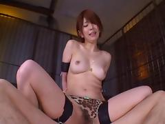 Sexy Mayu moans as she's getting drilled from the behind