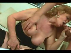 old slut loves that fresh meat