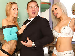 Nina Elle & Holly Mack & Evan Stone in Wanna Fuck My Daughter Gotta Fuck Me First #22, Scene #03