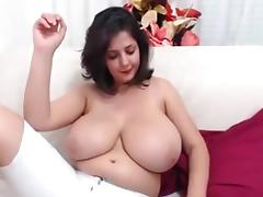 Huge Tit CamGirl Play herself