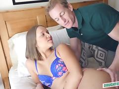 Daughter, Blonde, Blowjob, Foursome, Small Tits, Uncle